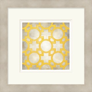 Chariklia Zarris 'Symmetry' Limited Edition Yellow Giclee Print