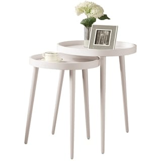 White 2-piece Nesting Table Set