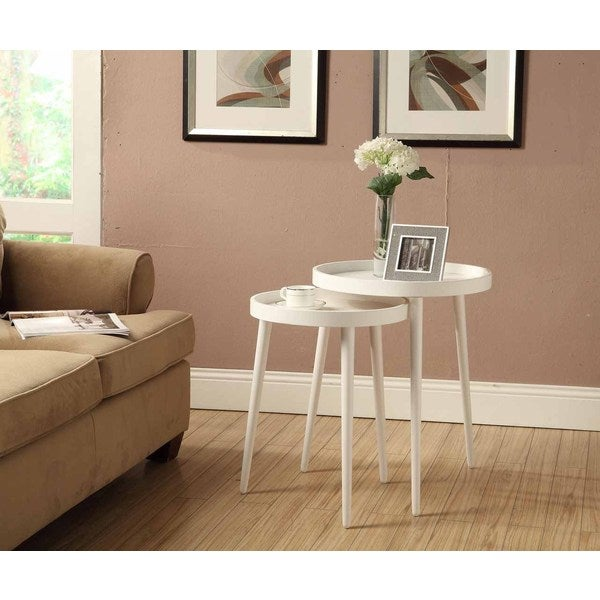 White piece nesting table set free shipping today