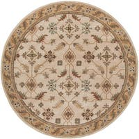 Copper Grove Puli Hand-tufted Beige Wool Classic Floral Area Rug - 6' Round