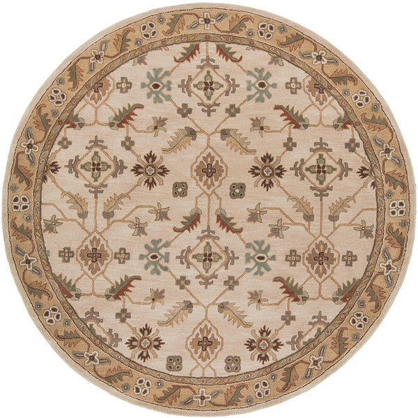 Copper Grove Kavir Hand-tufted Beige Wool Classic Floral Area Rug - 6'
