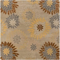 Hand-tufted Cahil Pussywillow Beige Wool Transitional Floral Area Rug - 6'