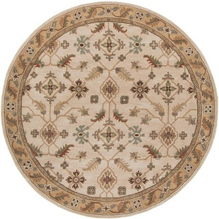 Hand-tufted Caleb Classic Floral Wool Rug (8' Round)