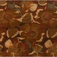 Hand-tufted Caerwyn Transitional Floral Wool Area Rug (9'9 Square)