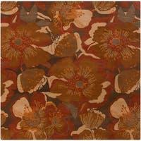 Hand-tufted Caerwyn Transitional Floral Wool Area Rug - 9'9