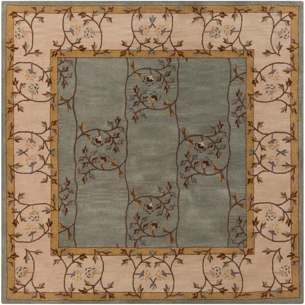 Hand Tufted Calhoun Traditional Floral Wool Slate Grey Rug