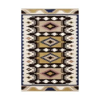 ZnZ Rug Gallery Hand-made Dried Tobacco Wool Rug (8' x 10')
