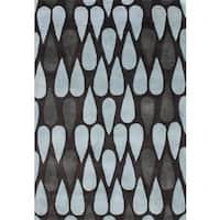 Alliyah Handmade Black Olive New Zealand Blend Wool Rug (5' x 8') - 5' x 8'