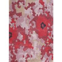 Handmade Alliyah Tufted Strawberry Pink Blended Wool Rug (5' x 8') - 5' x 8'