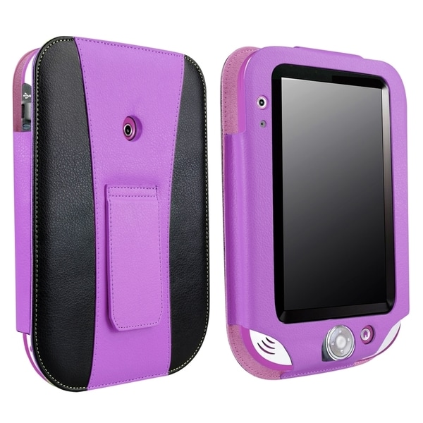 INSTEN Purple/ Black Leather Stand Phone Case Cover for LeapFrog LeapPad Ultra