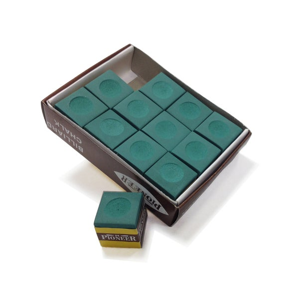 Hathaway Green Billiard Pool Cue Chalk Pack of 12. Opens flyout.