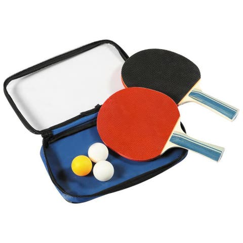Control Spin Table Tennis 2-Player Racket and Ball Set - Multi-Color