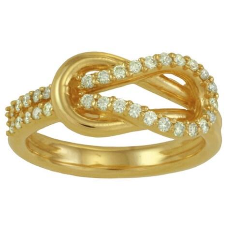14k White or Yellow Gold 1/3ct TDW Diamond Love Knot Ring