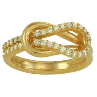 14k White or Yellow Gold 1/3ct TDW Diamond Love Knot Ring