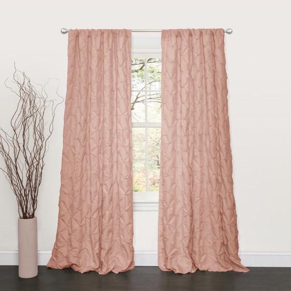 Lush Decor Lake Como Peach 84 Inch Curtain Panel
