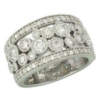 14kt White or Yellow Gold 1.77ct TDW Diamond Bezel Pave Anniversary Band