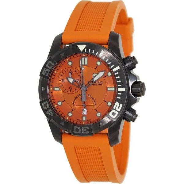 Shop victorinox swiss army men 39 s 39 dive master 39 orange watch free shipping today overstock - Orange dive watch ...