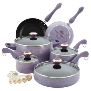 Paula Deen Signature Collection Porcelain Nonstick 15-piece Lavender Speckle Cookware Set|https://ak1.ostkcdn.com/images/products/8361703/P15669058.jpg?impolicy=medium