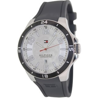Tommy Hilfiger Men's Grey Silicone Band Watch