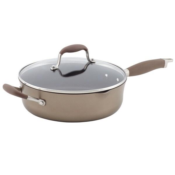 Anolon 4-quart Advanced Bronze Hard-Anodized Nonstick Covered Saute Pan