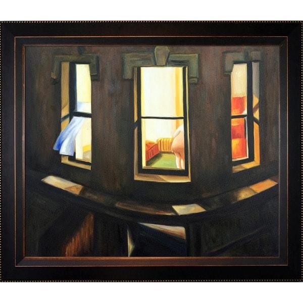 Shop Edward Hopper \'Night Windows\' Hand Painted Framed Canvas Art ...