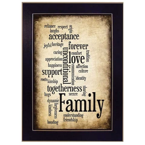 """""""Family I"""" By Susan Ball, Printed Wall Art, Ready To Hang Framed Poster, Black Frame"""
