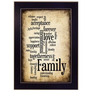 """Family I"" By Susan Ball, Printed Wall Art, Ready To Hang Framed Poster, Black Frame"