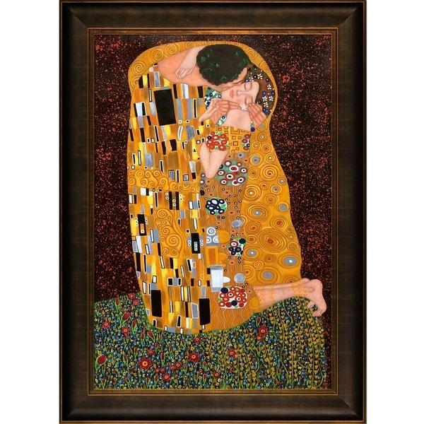 Shop Gustav Klimt The Kiss Hand Painted Framed Canvas Art On
