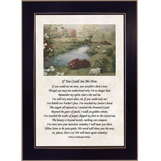 """If You Could See Me Now"" By Glynda Turley, Printed Wall Art, Ready To Hang Framed Poster, Black Frame"