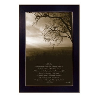 """""""Life is"""" By Dee Dee, Printed Wall Art, Ready To Hang Framed Poster, Black Frame"""