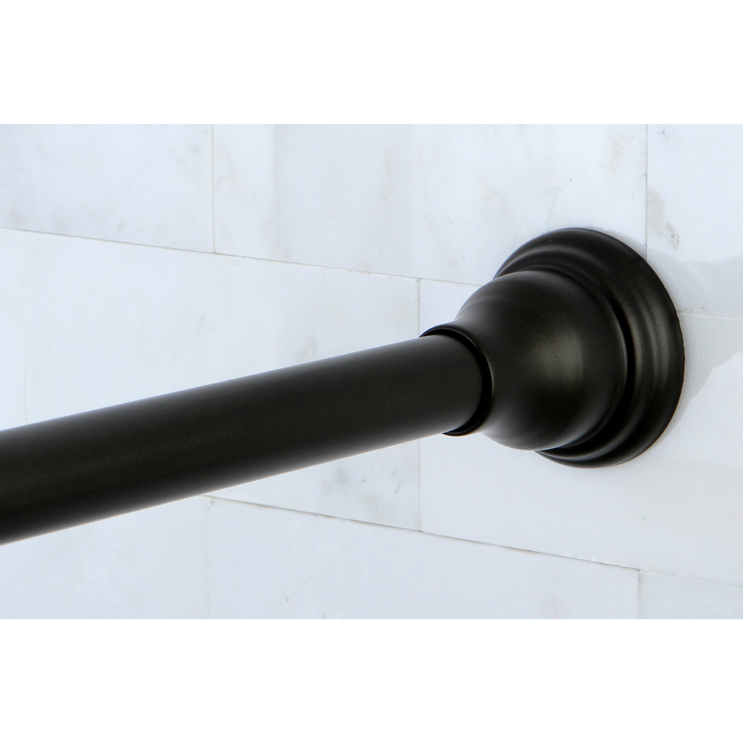 Oil Rubbed Bronze Adjustable Shower Curtain Rod Brown