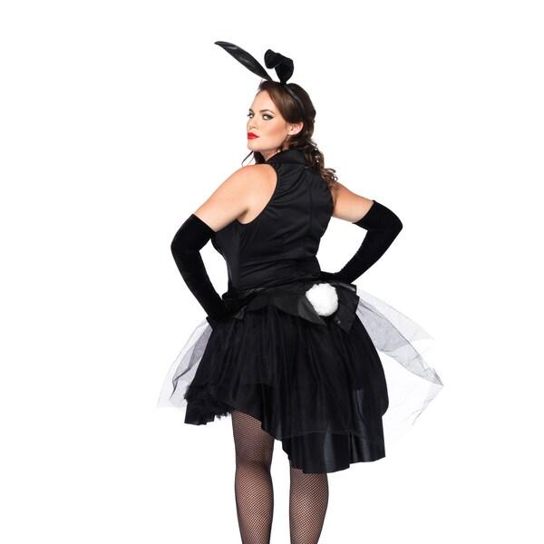 Leg Avenue Women\'s Plus Size Tux and Tails Bunny Dress Set (1X)