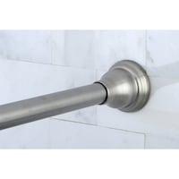 Satin Nickel Adjustable Shower Curtain Rod
