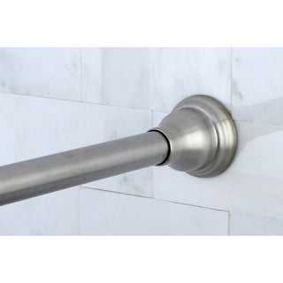 Satin Nickel Adjustable Shower Curtain Rod - Silver