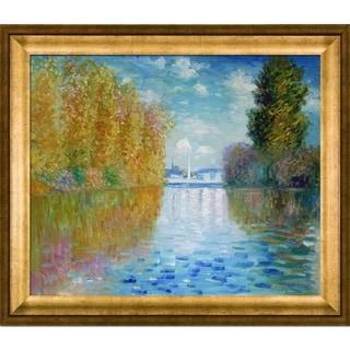 Claude Monet' Autumn at Argenteuil' Hand Painted Framed Canvas Art