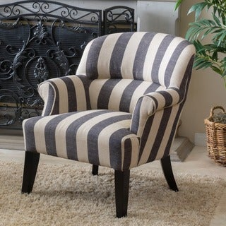 Amelie Stripe Fabric Club Chair by Christopher Knight Home