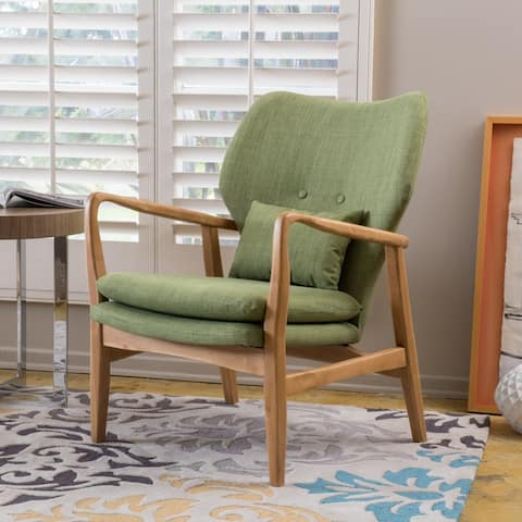 Haddie Mid Century Modern Fabric Club Chair by Christopher Knight Home