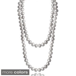 Glitzy Rocks Colored Freshwater Pearl 100-inch Endless Necklace