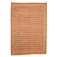 Herat Oriental Persian Hand-knotted 1950s Semi-antique Kashan Wool Rug (9' x 13') - 9' x 13'