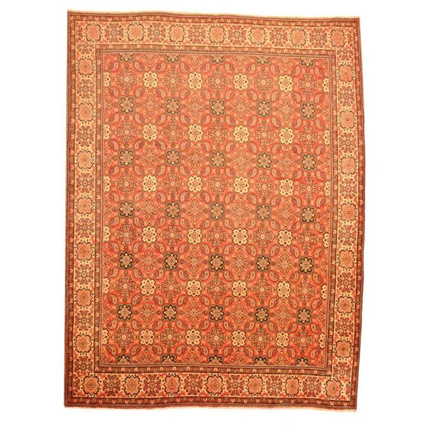 Herat Oriental Persian Hand-knotted 1960s Semi-antique Mahal Wool Rug (9'9 x 13') - 9'9 x 13'