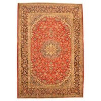 Herat Oriental Persian Hand-knotted Isfahan Wool Rug (9'10 x 14'3) - 9'10 x 14'3