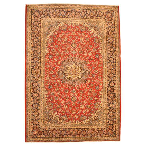 Herat Oriental Persian Hand-knotted Isfahan Wool Rug - 9'10 x 14'3