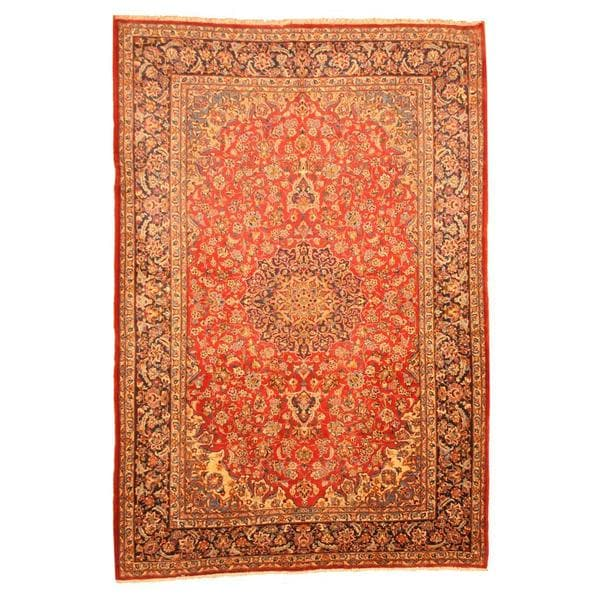 Herat Oriental Persian Hand-knotted Isfahan Wool Rug - 9'5 x 14'