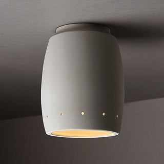 Perferated Curved Ceramic Outdoor 1-light Flush Mount