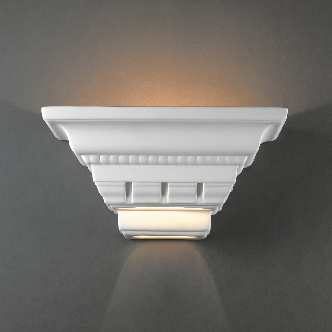 newest 9fea7 d3a26 Crown Molding Ceramic 1-light Sconce