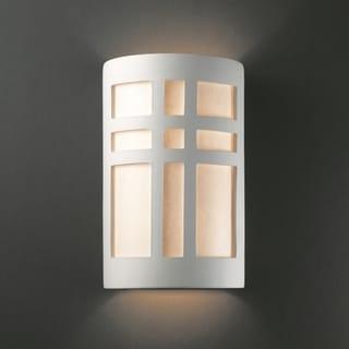 Multi Directional Cross Window Ceramic Sconce