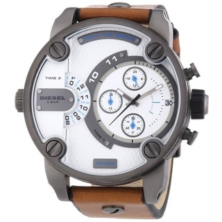 Diesel Men's DZ7269 'Little Daddy' Chronograph Leather Watch