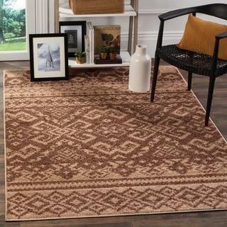 Safavieh Adirondack Southwestern Camel/ Chocolate Brown Rug (4' x 6')