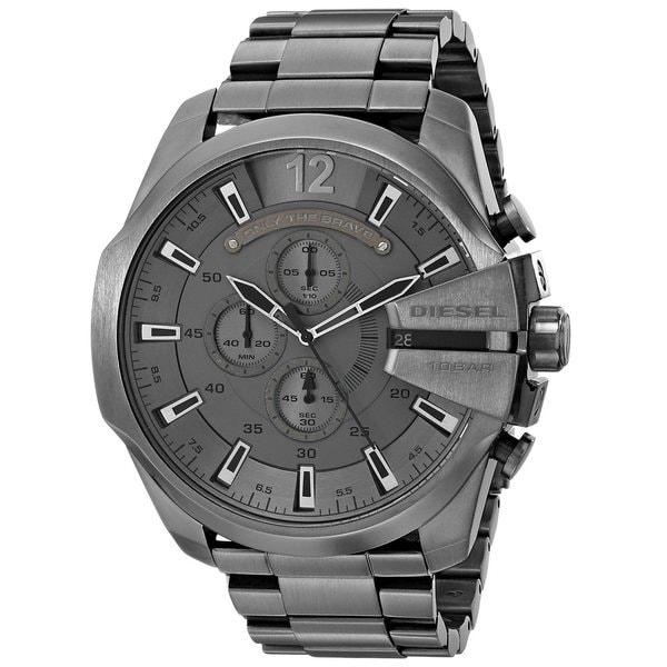 Diesel Men's Grey Stainless Steel and Grey Dial Analog Quartz Watch