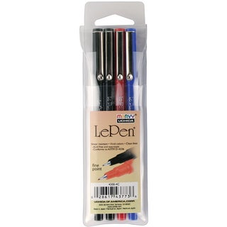 Le Pen .03mm Point Pen (Pack of 4)